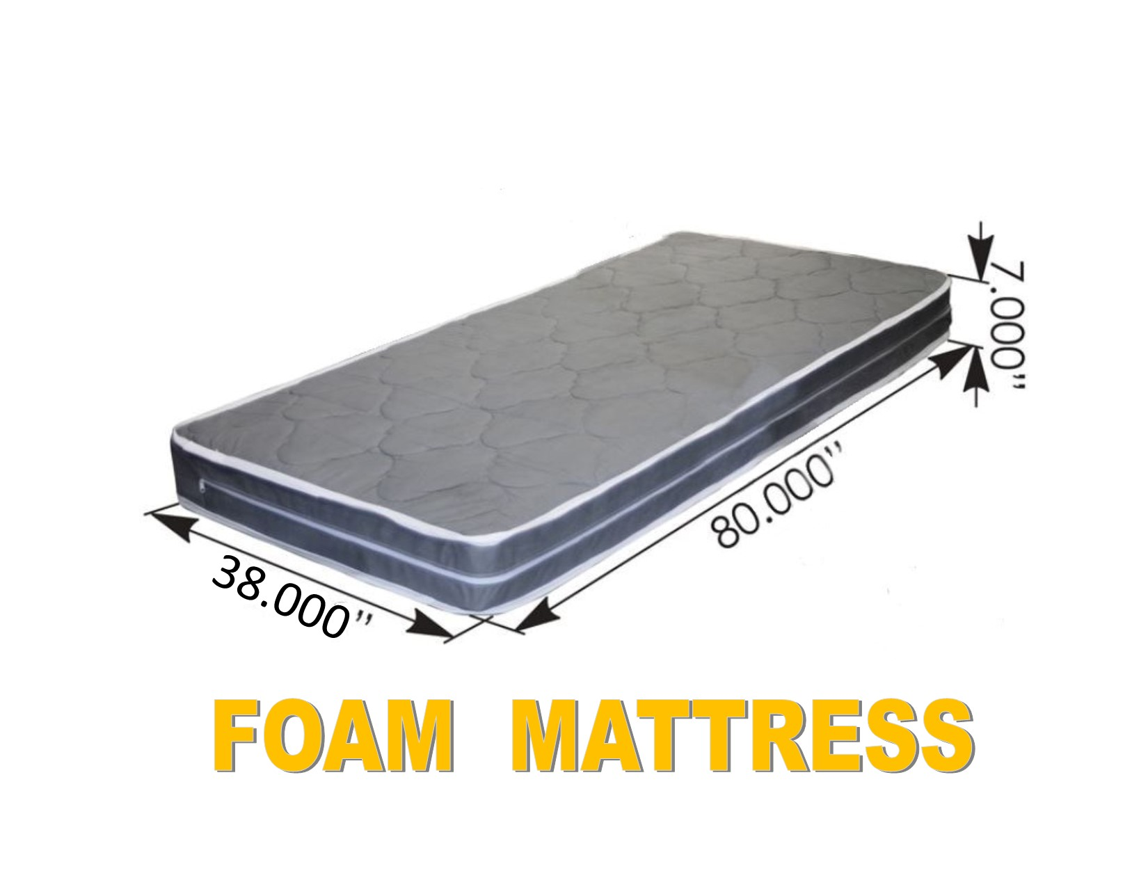 "FOAM MATTRESS (38"" x 80"" x 7"")Semi Truck Sleeper Cab Bed RV"