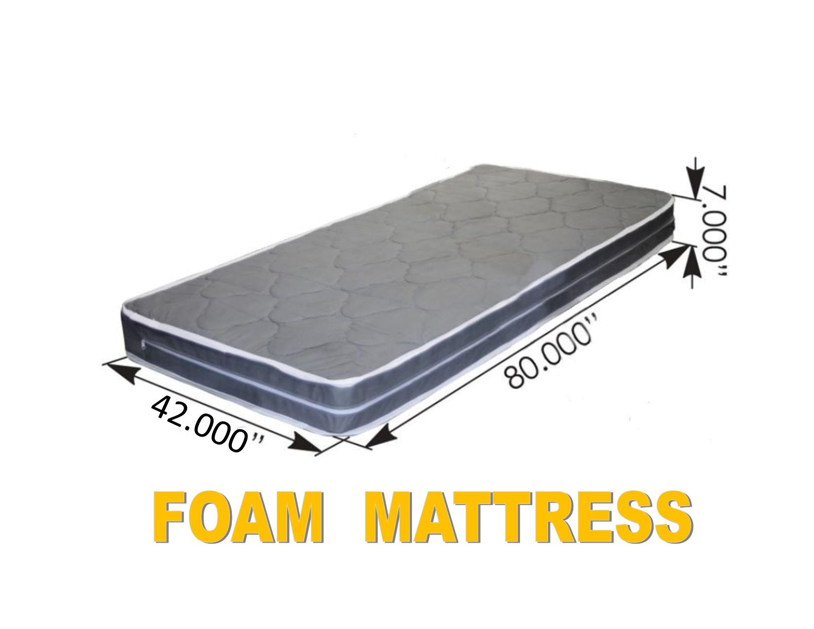 """FOAM MATTRESS (42"""" x 80"""" x 7"""")Semi Truck Sleeper Cab Bed RV"""