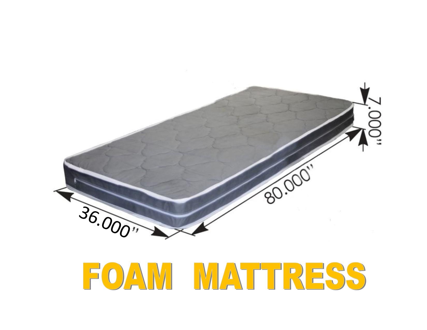 """FOAM MATTRESS (36"""" x 80"""" x 7"""")Semi Truck Sleeper Cab Bed RV"""