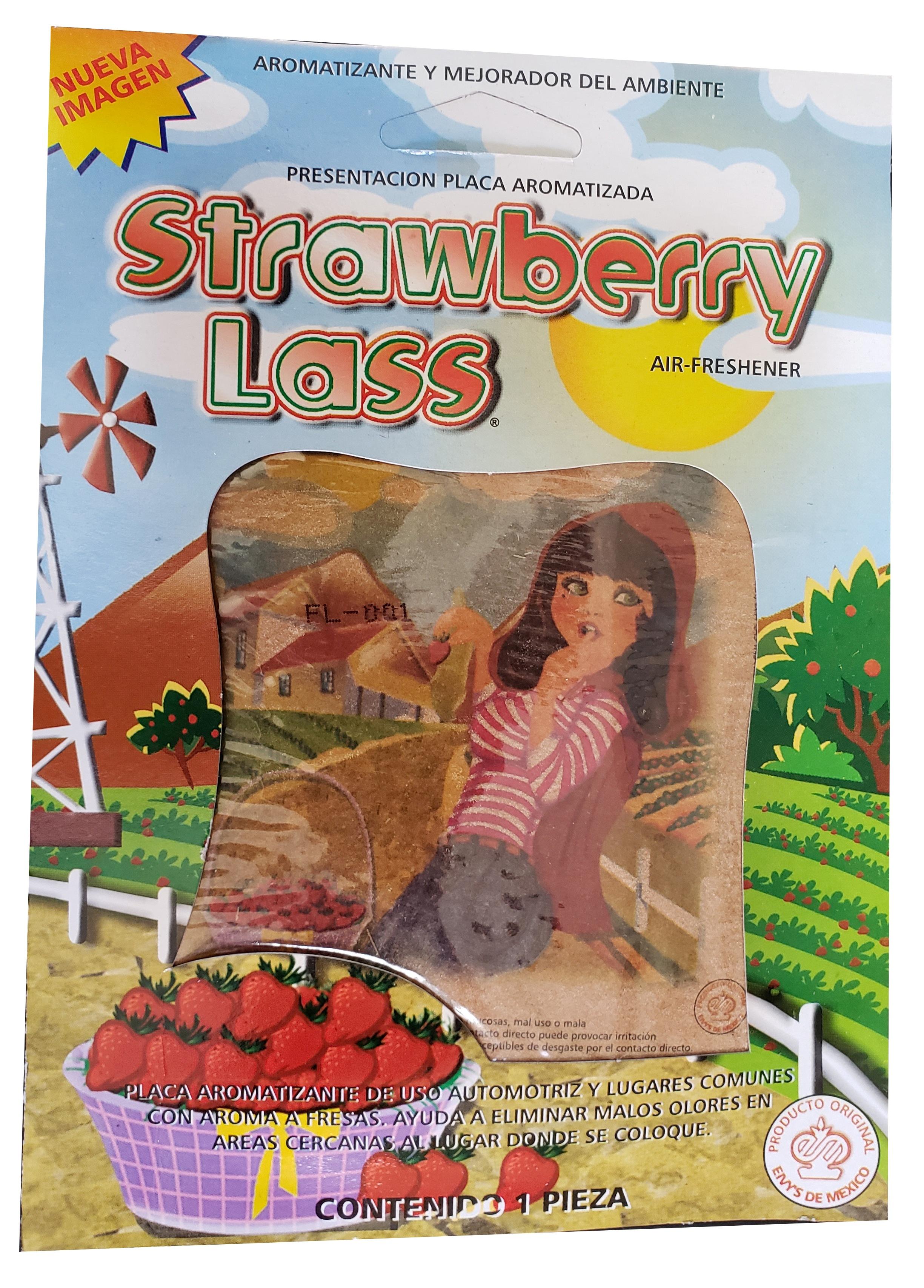 Car Air Freshener Deodorant STRAWBERRY (1 PCS) Strawberry Lass