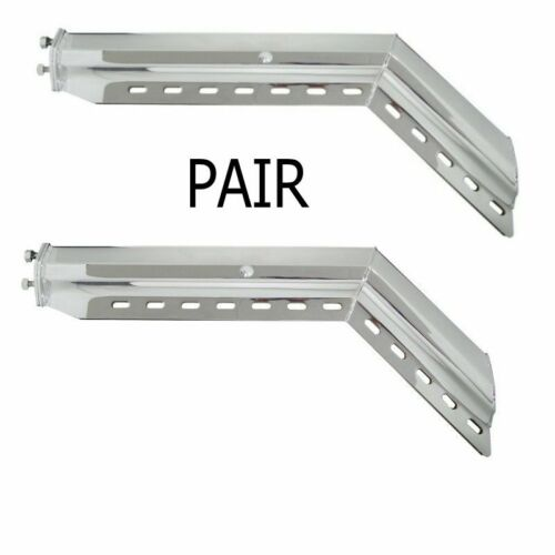 "45° Angled Chrome (2 .5"") Mud Flap Hanger set"