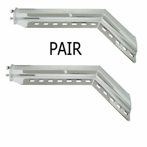 "45° Angled Chrome (1 - 1/8"") Mud Flap Hanger - set"