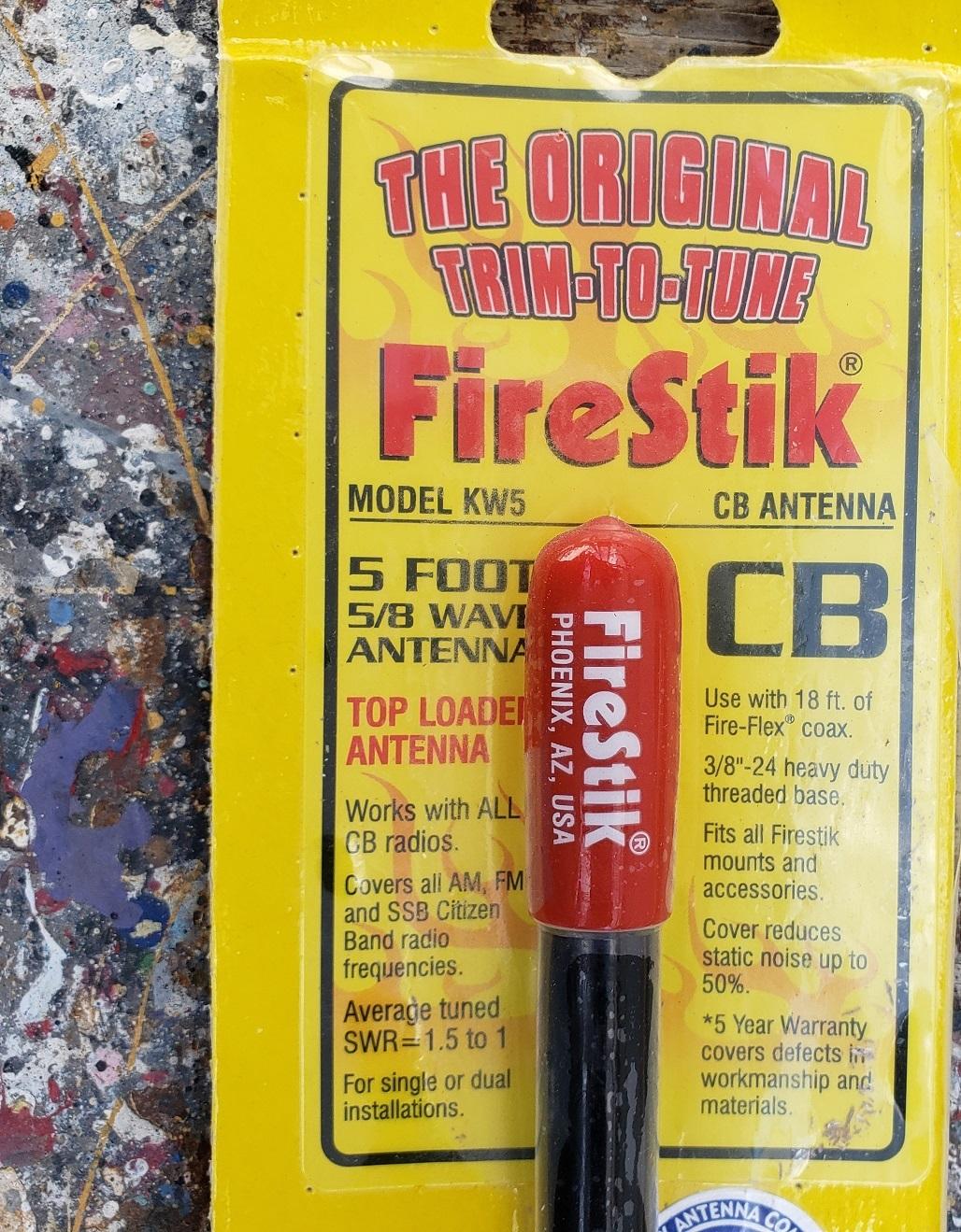 Firestick Antenna (BLACK) 5FT - Trim to Tune CB Antenna