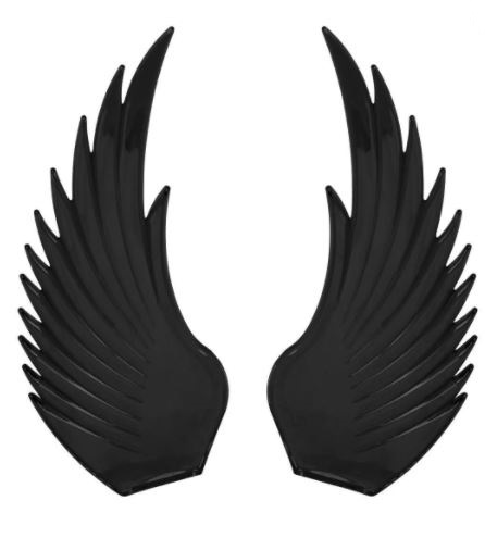 Windrider (BLACK) Hood Ornament Replacement Wings