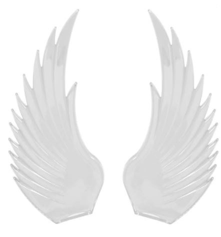 Windrider (CLEAR) Hood Ornament Replacement Wings