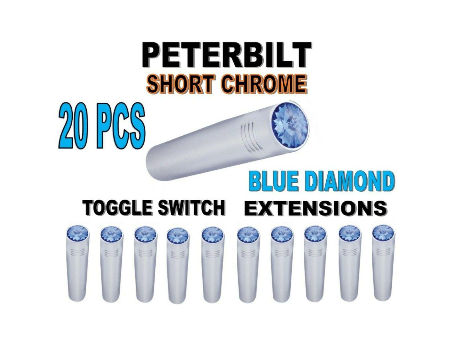 Toggle Switch Ext. Short Chrome - BLUE Diamond (X20) PETERBILT