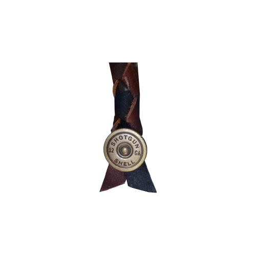 Air Horn Pull With Shotgun Shell Concho (GENUINE LEATHER) 10 Inch - Black & Brown