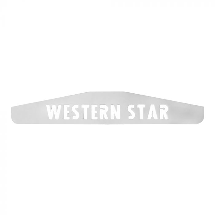 """Chrome Mud Flap Weight WESTERN STAR (For 24"""" Wide Mud Flap)"""