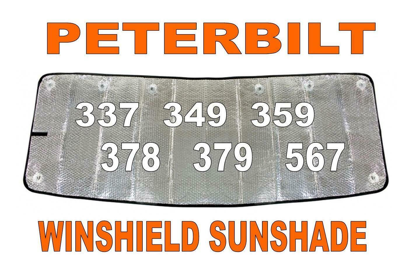 Windshield Sunshade For Peterbilt 379 (300 Series)  Trucks