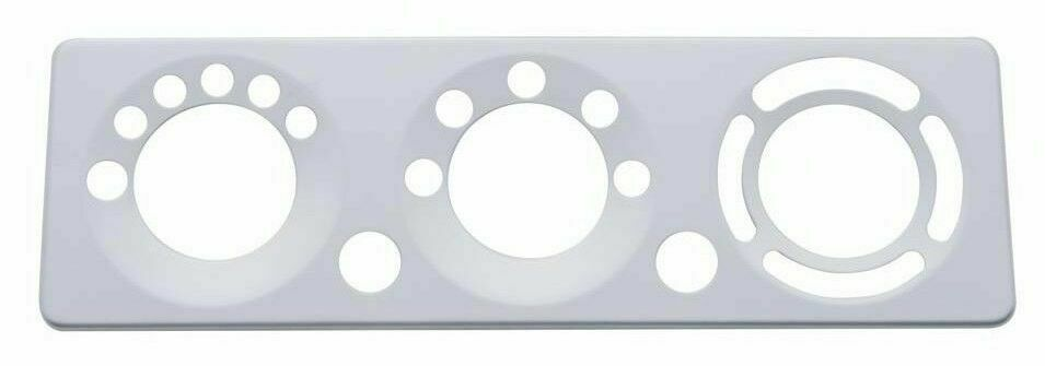 2006+ Peterbilt 379, 389, 388, 387, 386, 384 A/C Control Plate - Stainless Steel