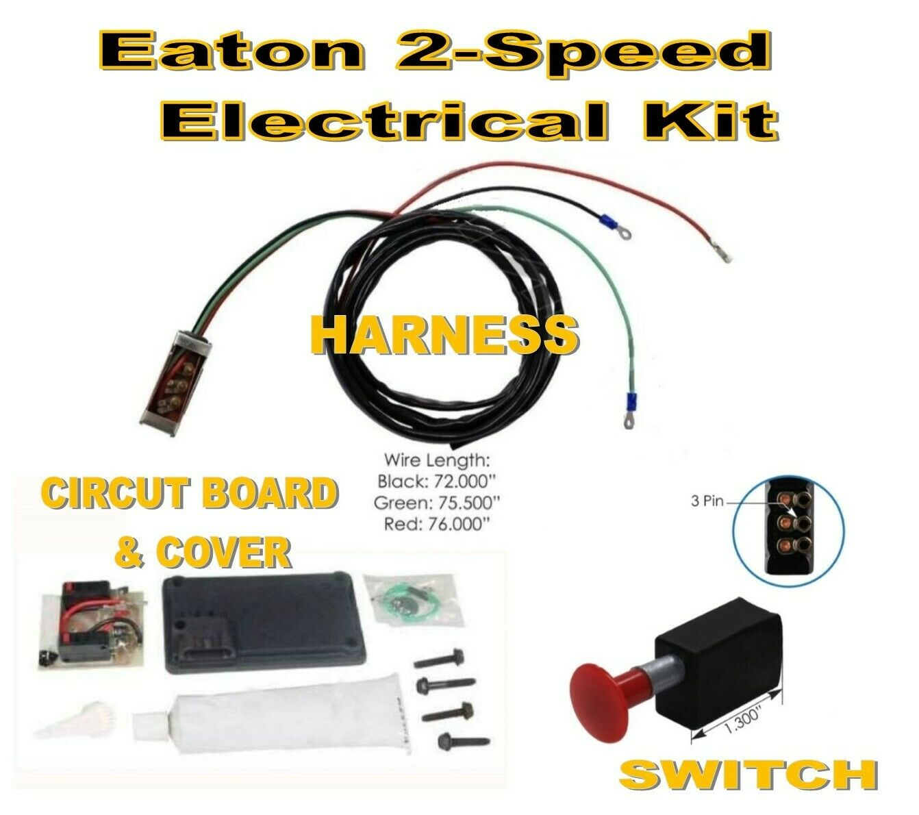 Eaton Spicer 2-Speed Electrical Kit (Circut Board - Harness - Switch)