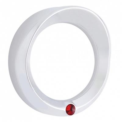 Speed/Tachometer Gauge Cover w/ Visor - Red Diamond - Kenworth