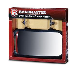 Stainless steel over the door convex mirror
