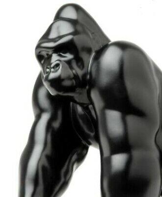 "Gorilla King Hood Ornament (Matte Black) 3 Hole Mount 4 3/4"" Tall"