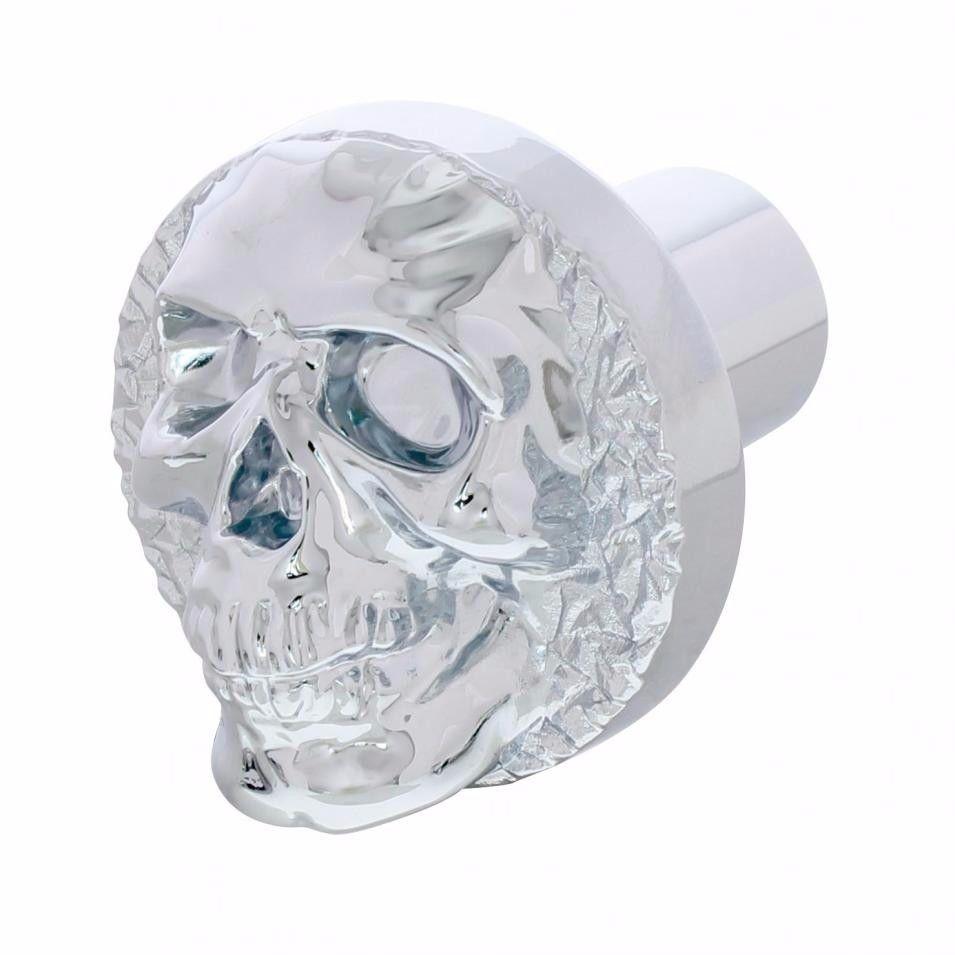 Chrome Skull Screw On Air Valve Knob