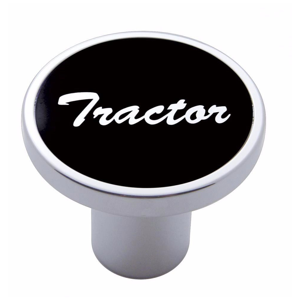 Knob tractor Black aluminum sticker screw-on air valve for Kenworth, Peterbilt, Freightliner