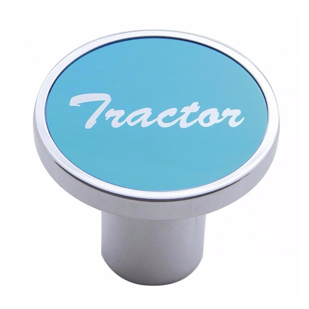 Knob tractor Blue aluminum sticker screw-on air valve for Kenworth, Peterbilt, Freightliner