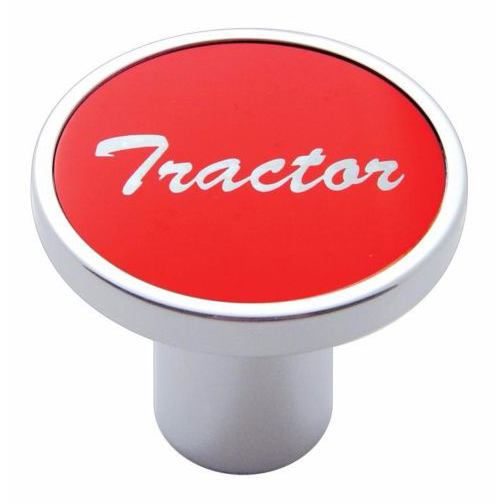 Knob tractor Red aluminum sticker screw-on air valve for Kenworth, Peterbilt, Freightliner
