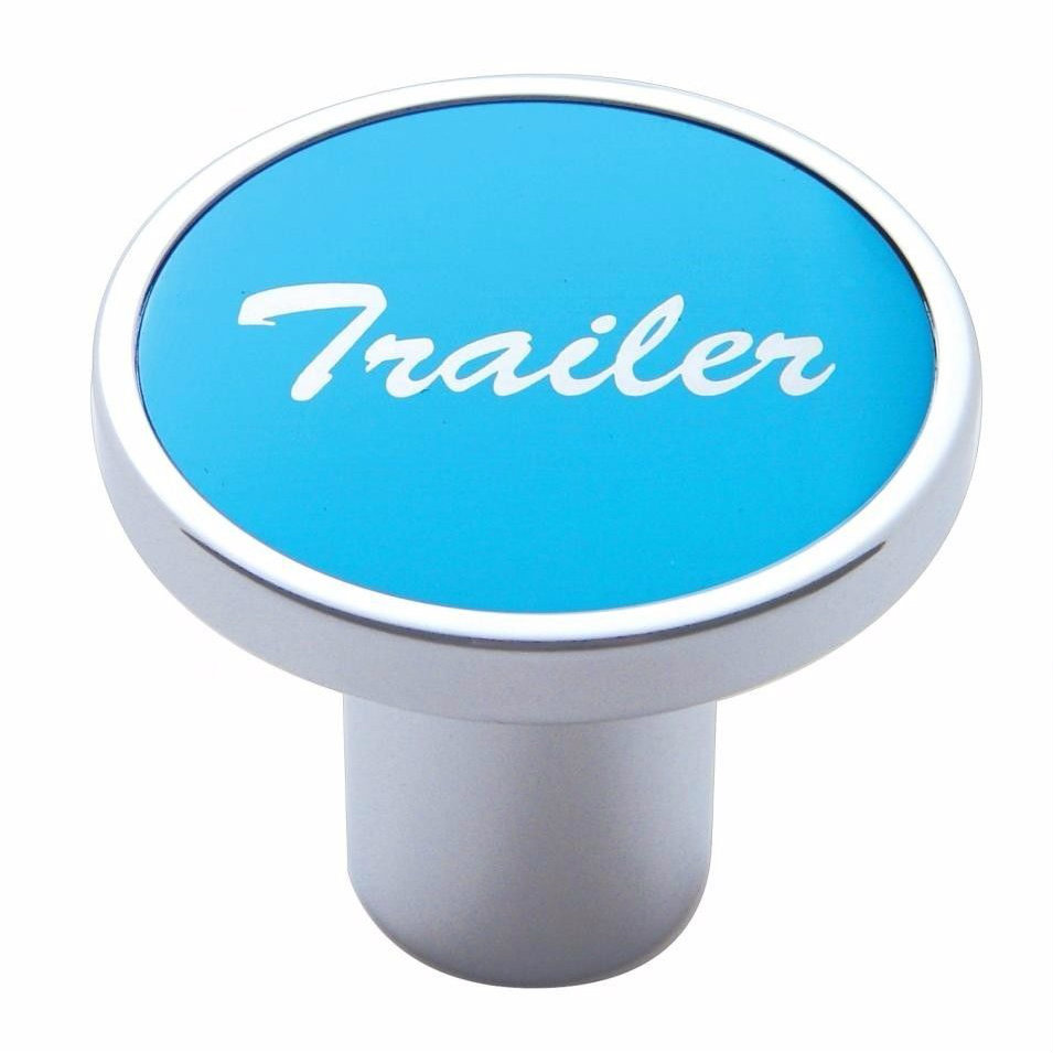Knob Trailer Blue aluminum sticker screw-on air valve for Kenworth, Peterbilt, Freightliner