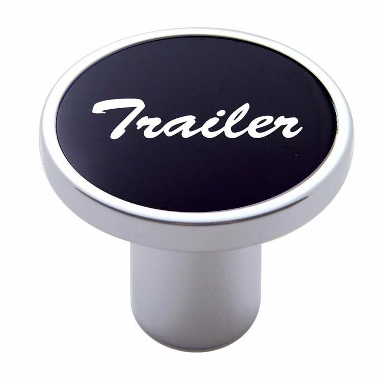 Knob Trailer Black aluminum sticker screw-on air valve for Kenworth, Peterbilt, Freightliner