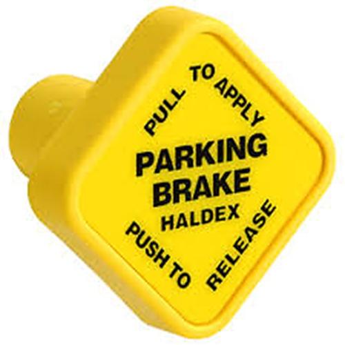 Midland KN20901 Yellow Diamond Parking Brake Knob for Push Pull Valves