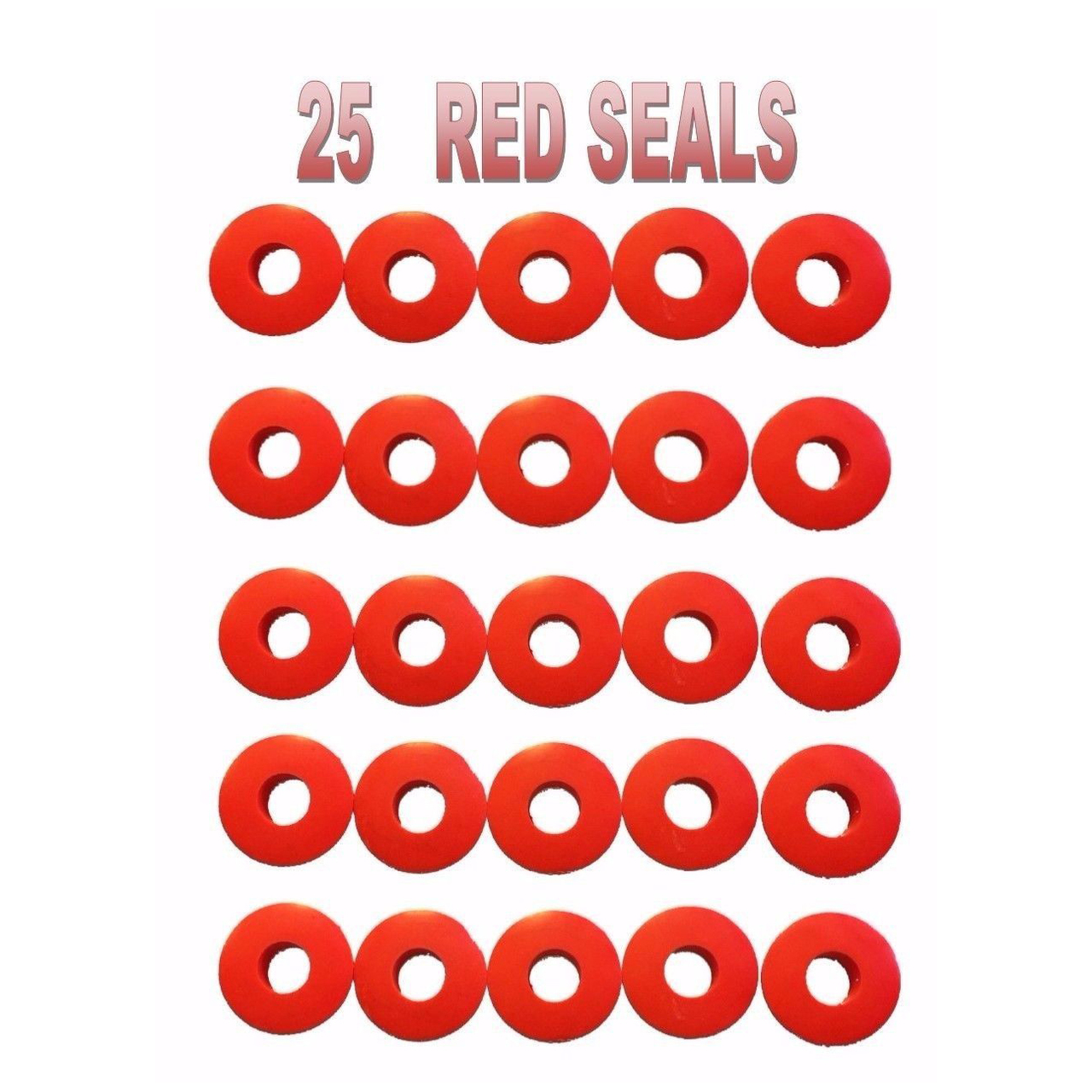 Poly Glad Hand Seals Red and Blue Kit for Trucks and Trailers, Set of 50