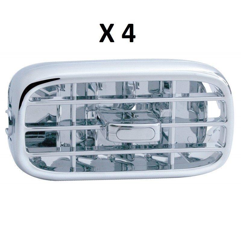 """International 9200//9300//9400 /""""I/"""" Chrome Plastic A//C Vents 4 Pack"""