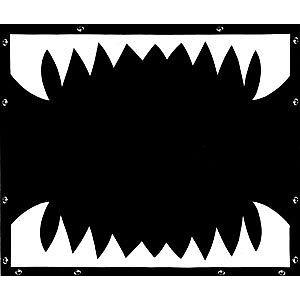 KENWORTH W900L Shark Teeth Bug Screen Ext Hood