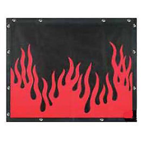 FLAMES BUG SCREEN - PETERBILT 377, 378, 379 (Extended Hood)
