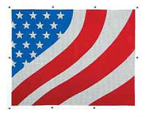 American Flag Bug Screen - Peterbilt 377,378,379 (Extended Hood)