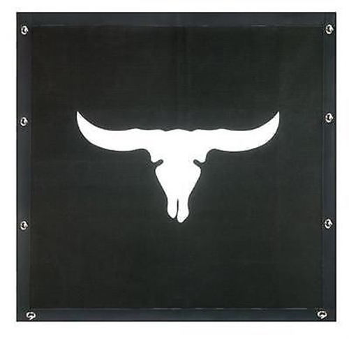 Cattle Skull Bug Screen - KENWORTH W900L (Extended Hood)