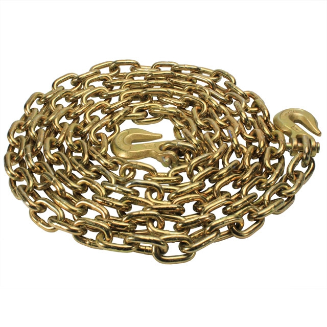 G70 CHAIN-3/8in X 20ft WITH CLEVIS HOOKS WORKING LOAD LIMIT-6,600 LBS