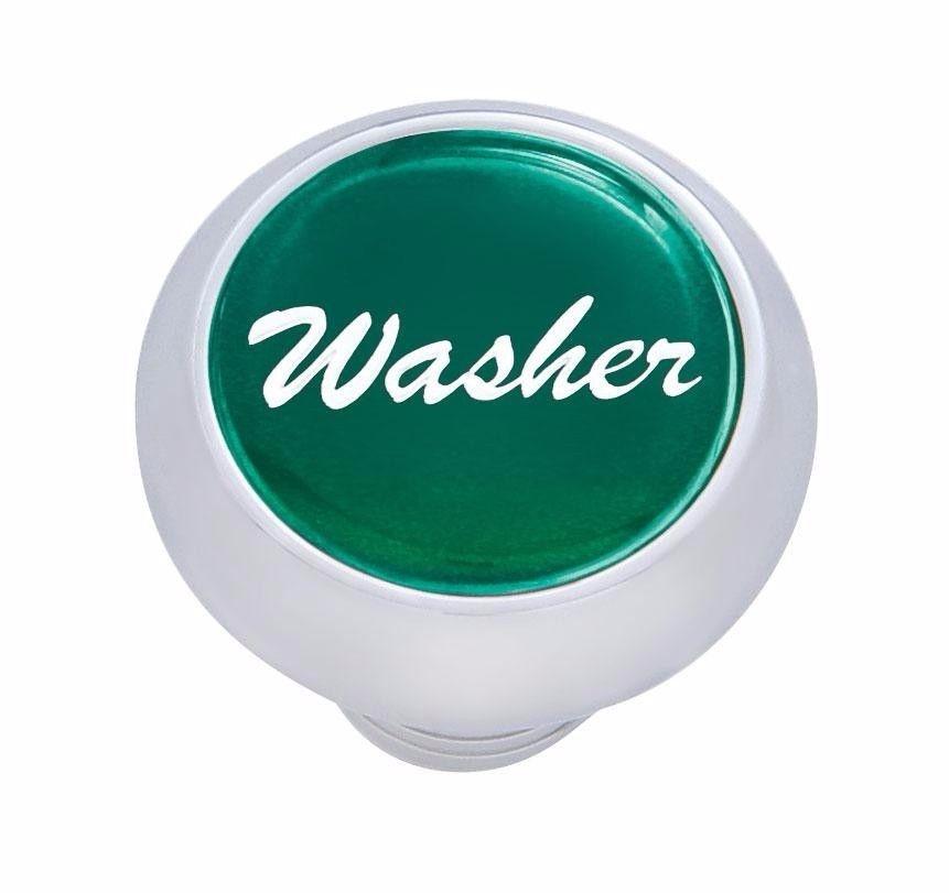 Small Deluxe Washer Dash Knob - (Green) Peterbilt  Freightliner Kenworth