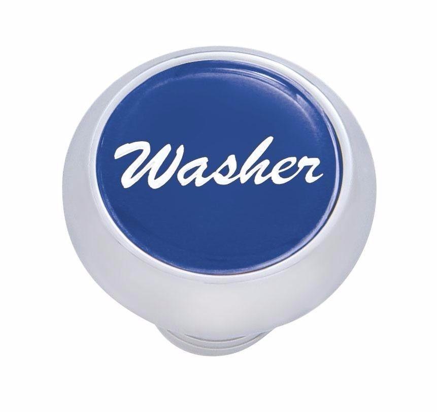 Small Deluxe Washer Dash Knob - (Blue) Peterbilt  Freightliner Kenworth