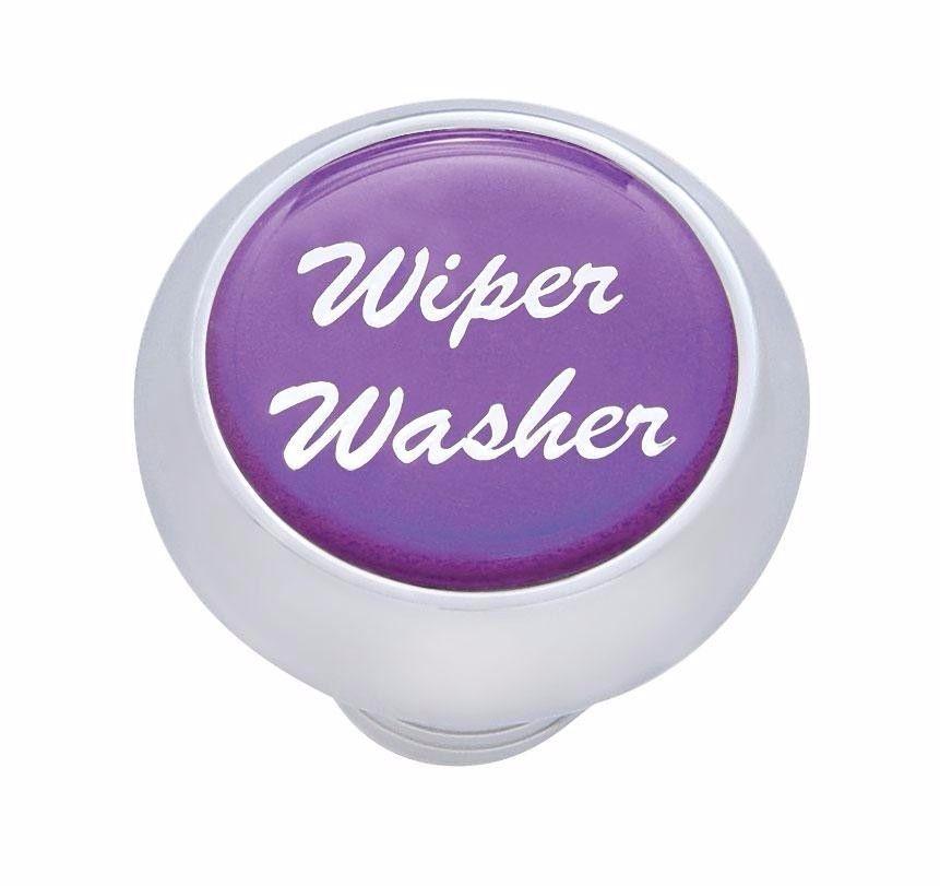 Small Deluxe Wiper-Washer Dash Knob - (Purple) Peterbilt  Freightliner Kenworth