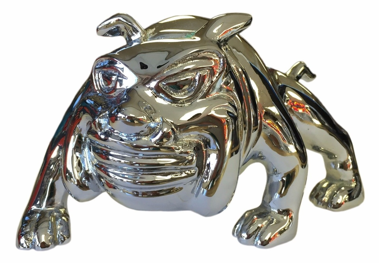 Bull Dog Hood Chrome Ornament #1 for Peterbilt, Freightliner, Kenworth