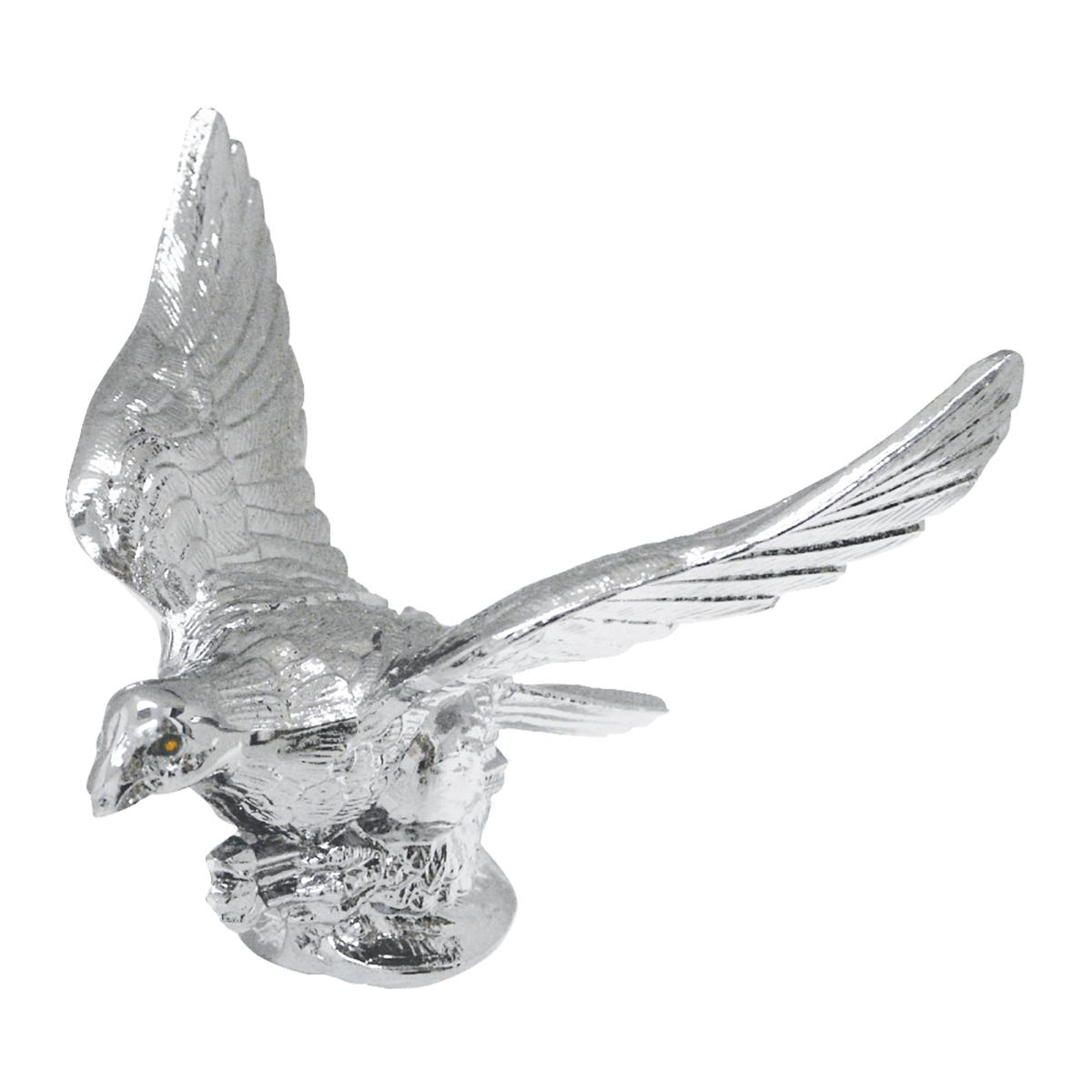 Chrome Flying Eagle Hood Ornament | Eyes Light up