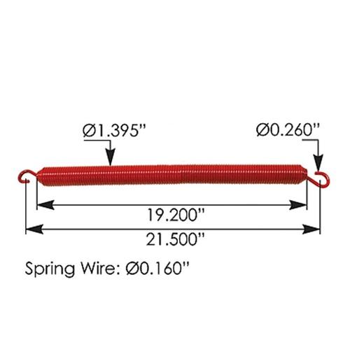 Kenworth Hood Spring K224-81, Red