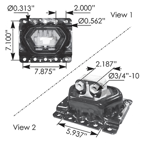 VOLVO ENGINE MOUNT P/N 20499470