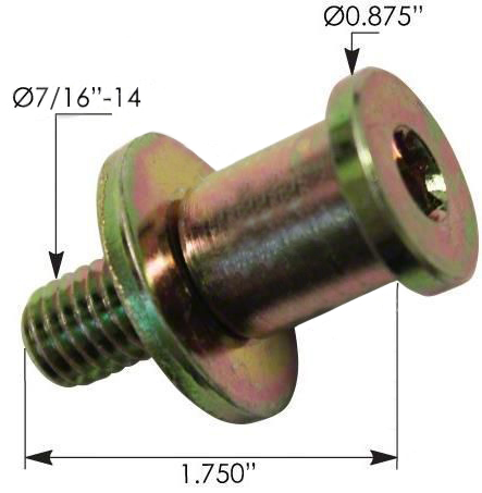 INTERNATIONAL DOOR STRIKER BOLT #496448C1