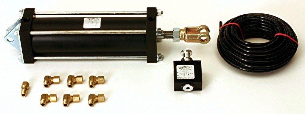 """Tailgate Air Cylinder (3.5"""" Diam - 8"""" Stroke) W/ Push Pull Valve Kit"""
