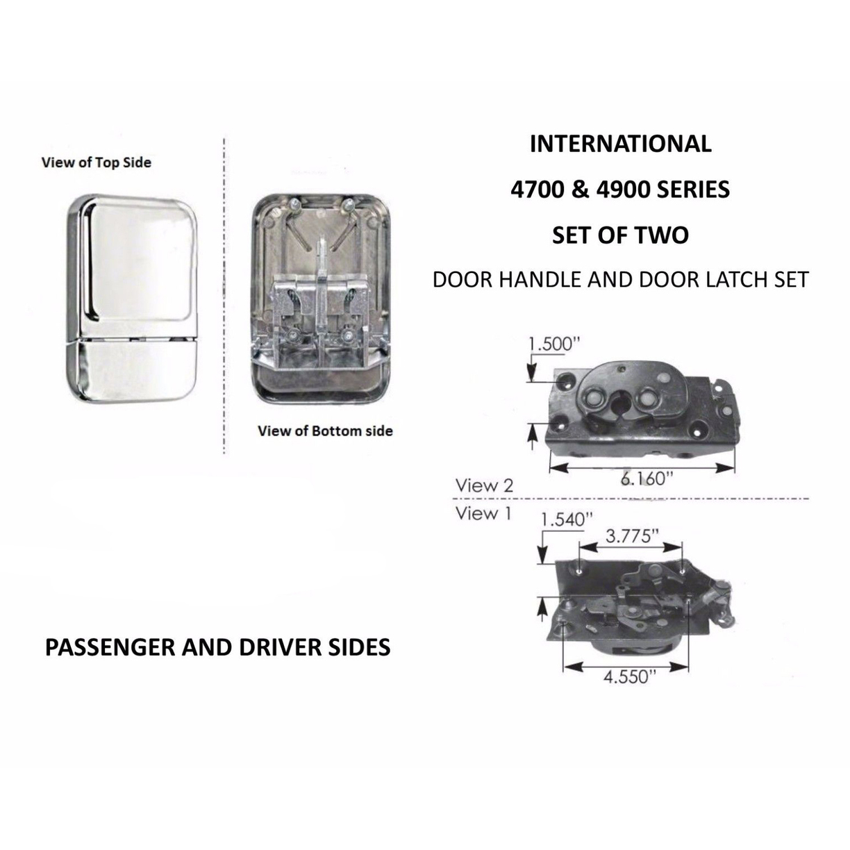 Door Handle & Door Latch Set for International 4700, 4900 Series