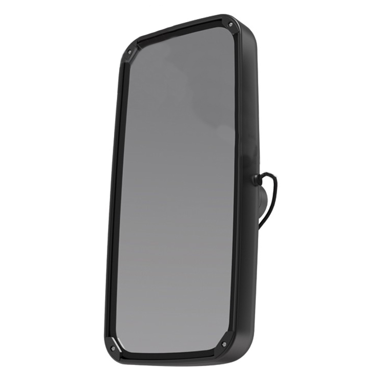Aerodynamic 8x17 Heated Black Mirror, Universal Fit for Semi Trucks
