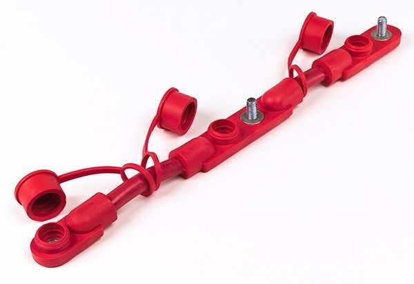 Cable Overmolded Battery Harness (2/0) 14in (RED)