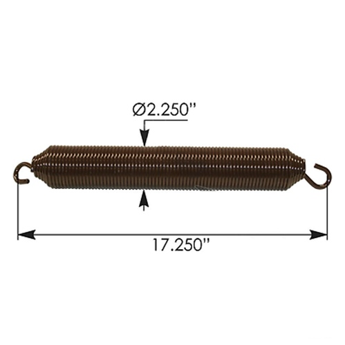 Hood Spring with Metton Hood - Kenworth (BROWN - ORANGE)