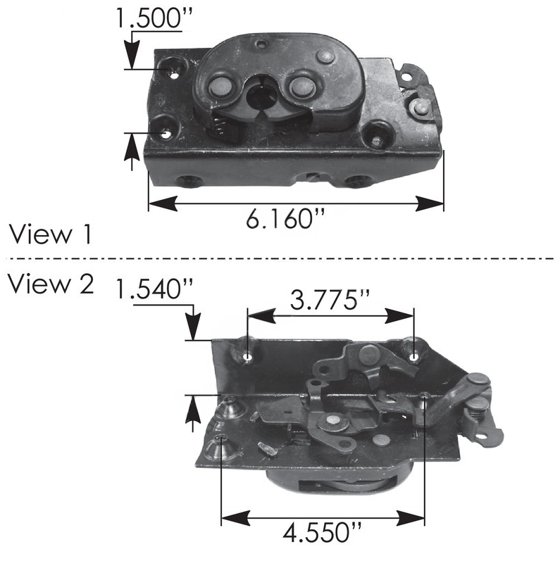 International - R/H Door Latch 4700,4900 Series Trucks