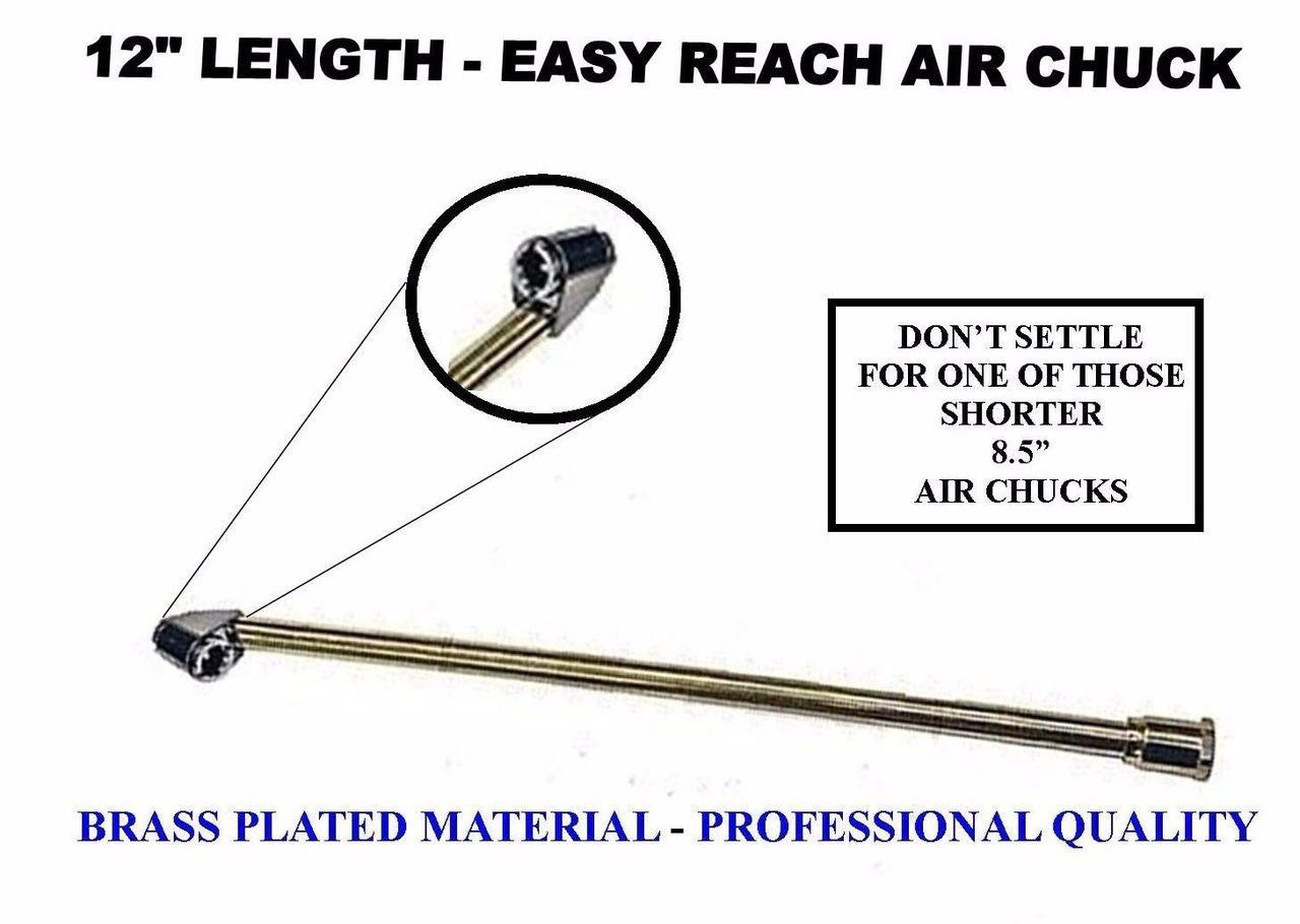 "AIR CHUCK DUAL HEAD (12"" LONG) TRUCKS ATV'S RV'S TOOL INFLATOR"