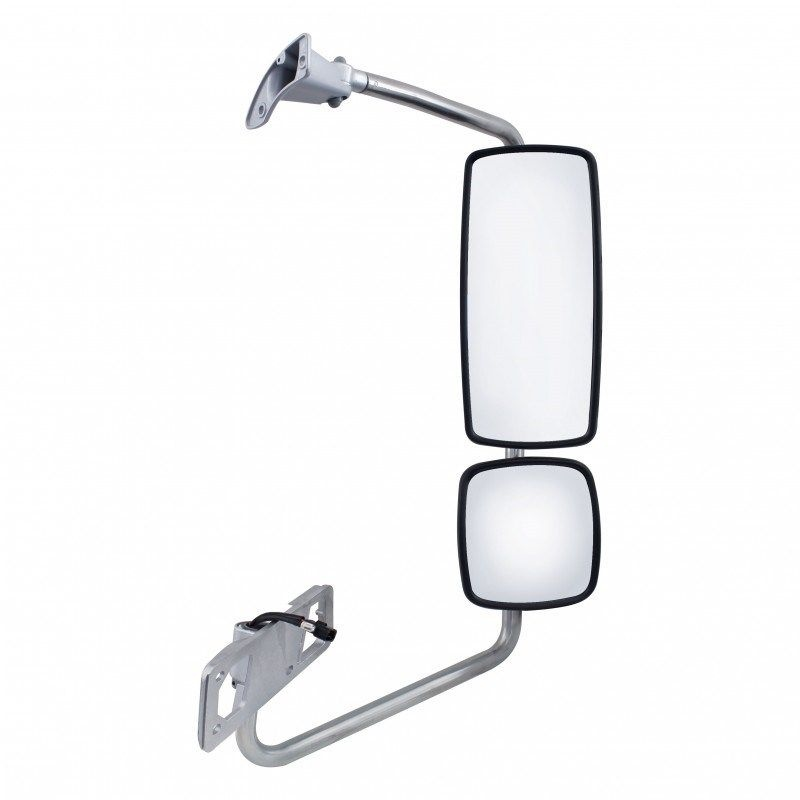 Chrome Electric Heated Mirror Assembly for Freightliner Columbia, 2002 & Newer, Passenger Side