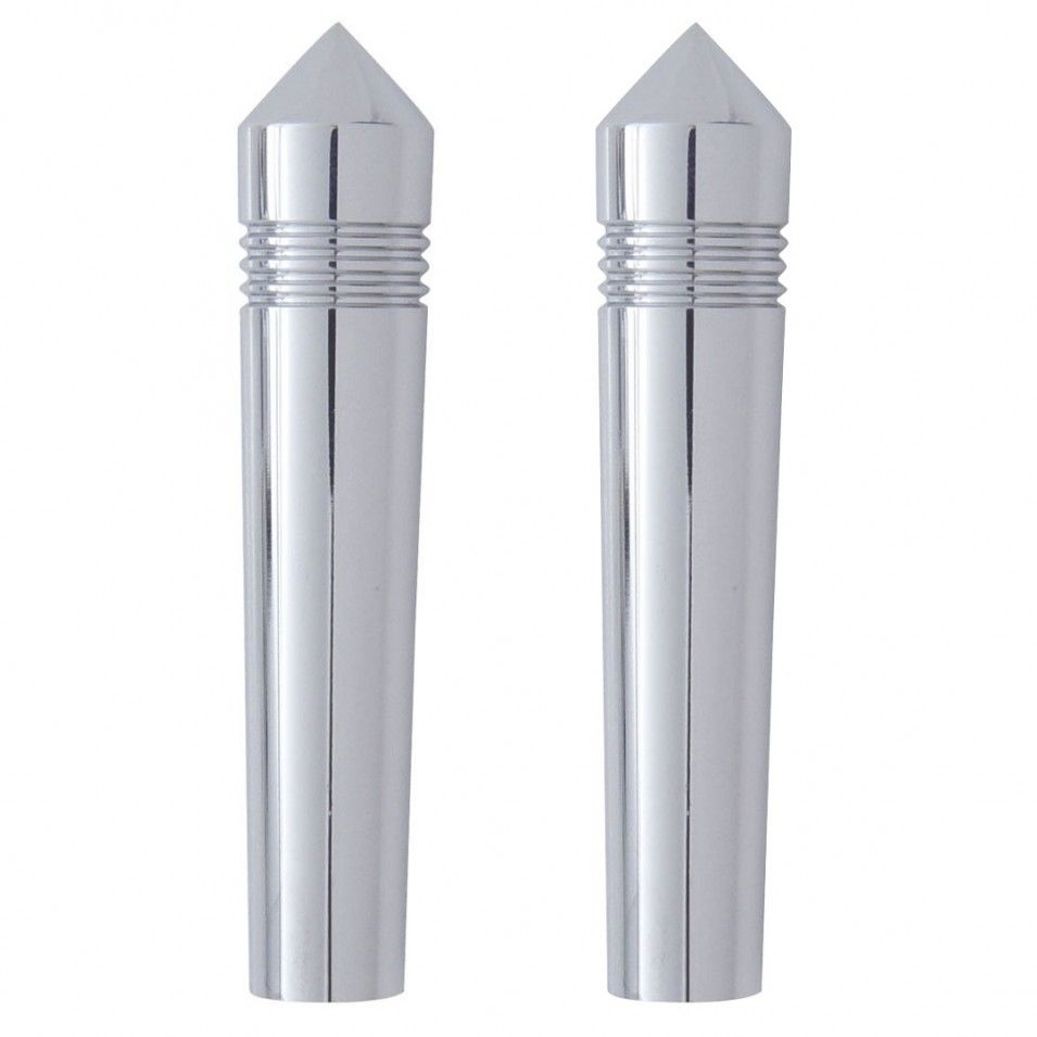 Peterbilt Long Chrome Toggle Switch Extension - Pointed set of 2
