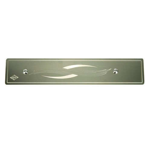 Peterbilt Rockwood Stainless Steel Under Glove Box Trim Engraved